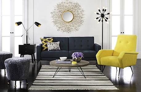 Nadčasový nábytek a koberce z hektického New Yorku