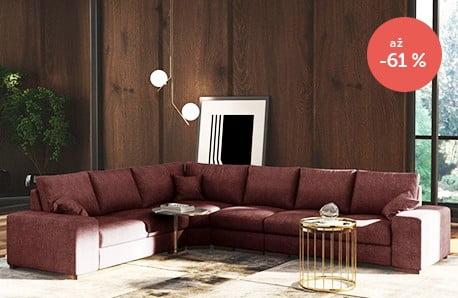 Pohodlné a obzvlášť prostorné pohovky do vašeho domova