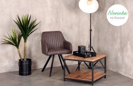 Stylový nábytek z exotických dřevin a kovu