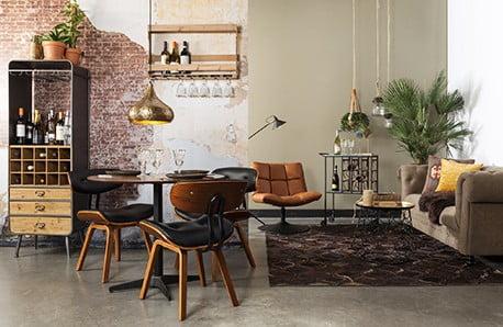 Stilul industrial condimentat cu un strop de scandinav