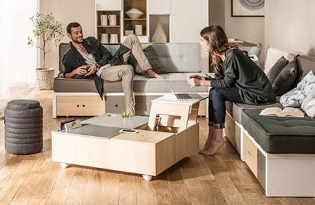 Accesorii practice, spații de depozitare și canapele extensibile