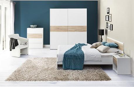 Dormitor armonios cu mobilierul Szynaka Meble
