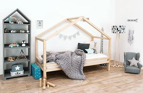 Benlemi: paturi din lemn masiv pentru copii