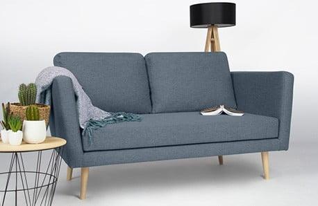 Pohovkám a lenoškám Scandizen dominuje jednoduchost, pastelové barvy a pohodlí