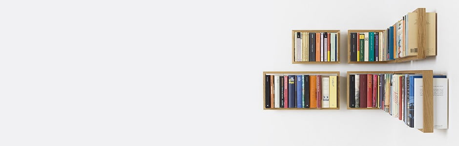 Levitující minimalistický nábytek das kleine b