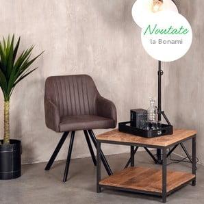 Mobilier elegant din lemn exotic și metal