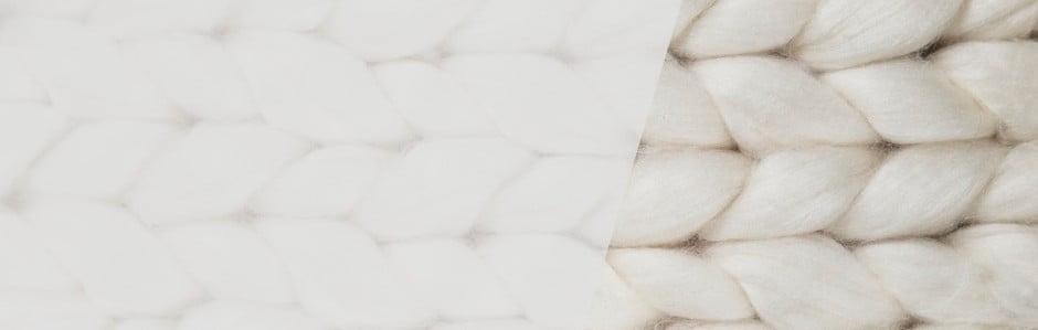 Chunky Plaids, pături tricotate manual