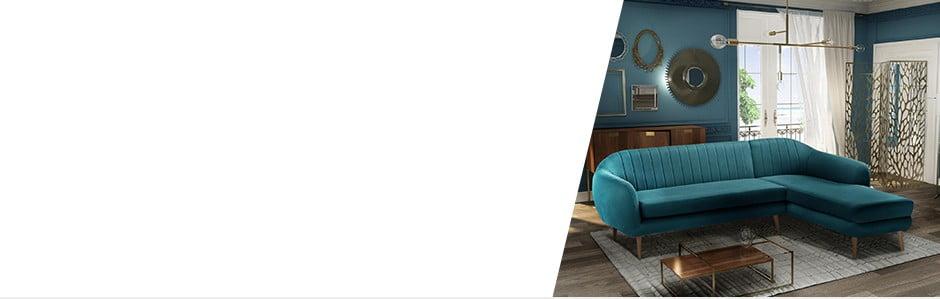 Obývací pokoj v barvách zimy