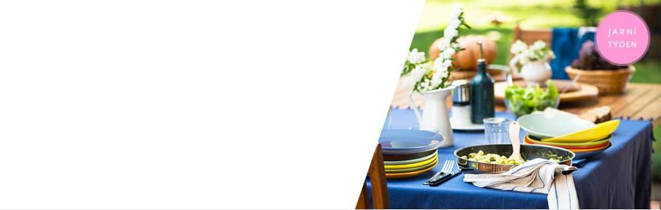 Barevné jarní stolování