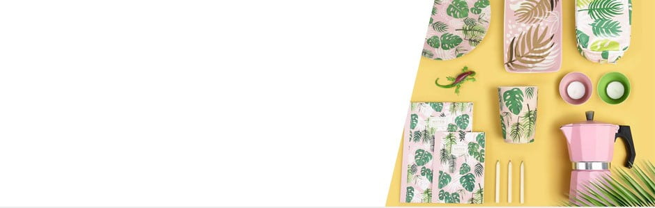 Accesorii colorate cu motive tropicale Rex London