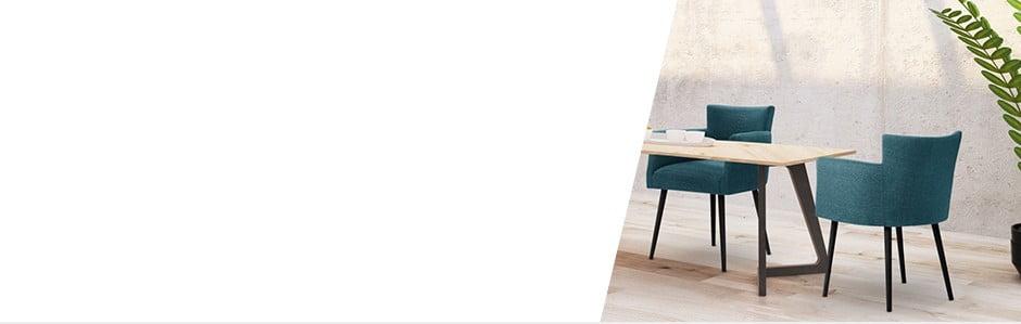 Un dining elegant cu scaune șifotoliicolorate