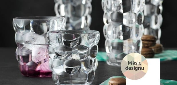 Mísy, sklenice i vázy z křišťálového skla