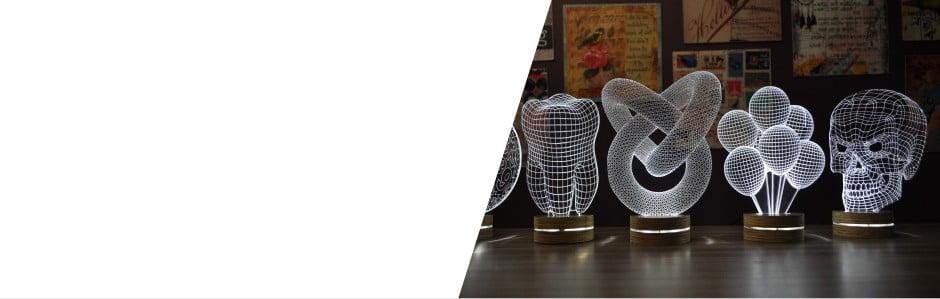 Posviťte si 3D lampou