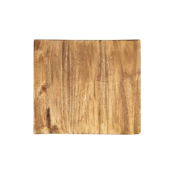 Masă tip consolă cu blat din lemn exotic HMS collection, înălțime 68 cm