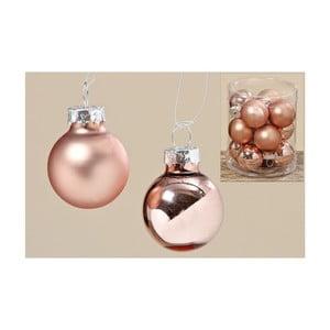 Sada 12 ks vánočních koulí Copper Ball