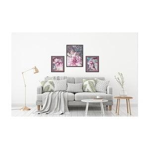 Sada 3 nástěnných obrazů Tablo Center Orchid