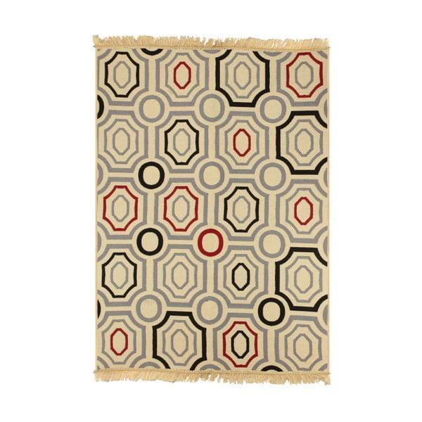 Modrobéžový koberec Ya Rugs ZigZag, 120x180cm