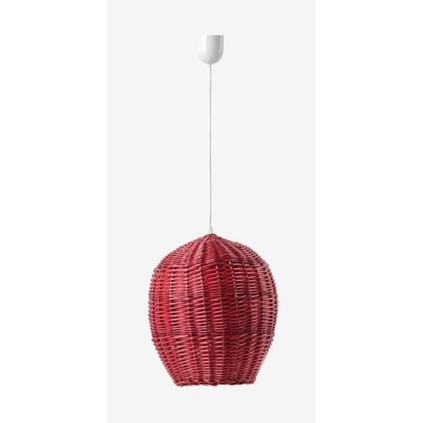 Stropní světlo Egg, 28 cm, červené