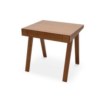 Birou cu picioare din lemn de frasin EMKO, 80 x 70 cm, maro imagine