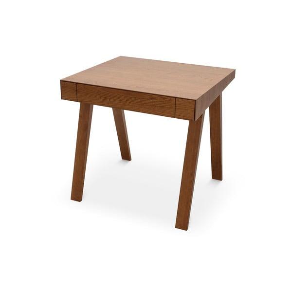 Barna asztal kőrisfa lábakkal, 80x70cm - EMKO