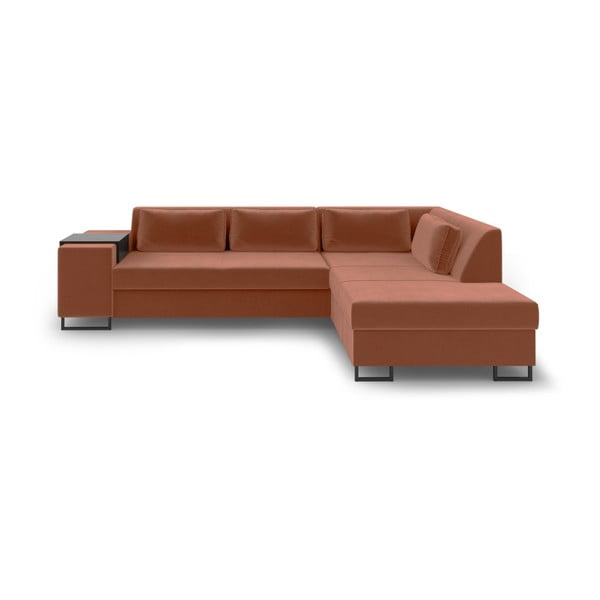 San Diego narancssárga kinyitható kanapé, jobb oldali - Cosmopolitan Design