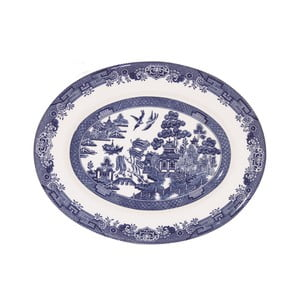 Servírovací talíř Churchill China Blu Willow, Ø 31 cm