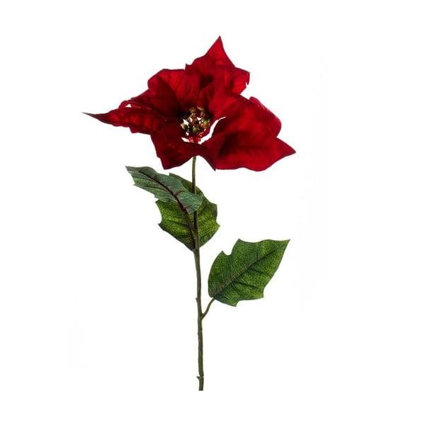 Umělá květina Vánoční hvězda, červená