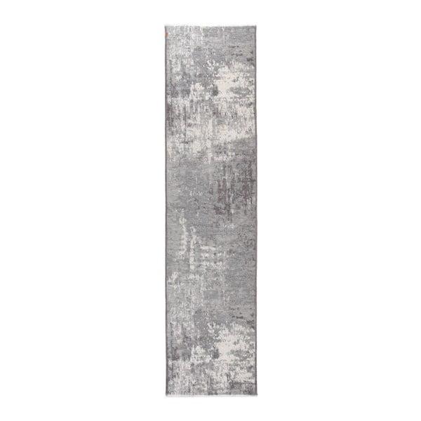 Covor cu 2 fețe Maleah, 77 x 300 cm, gri