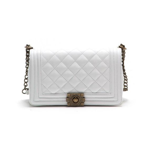 Kožená kabelka Anna Luchini 2064 Bianco
