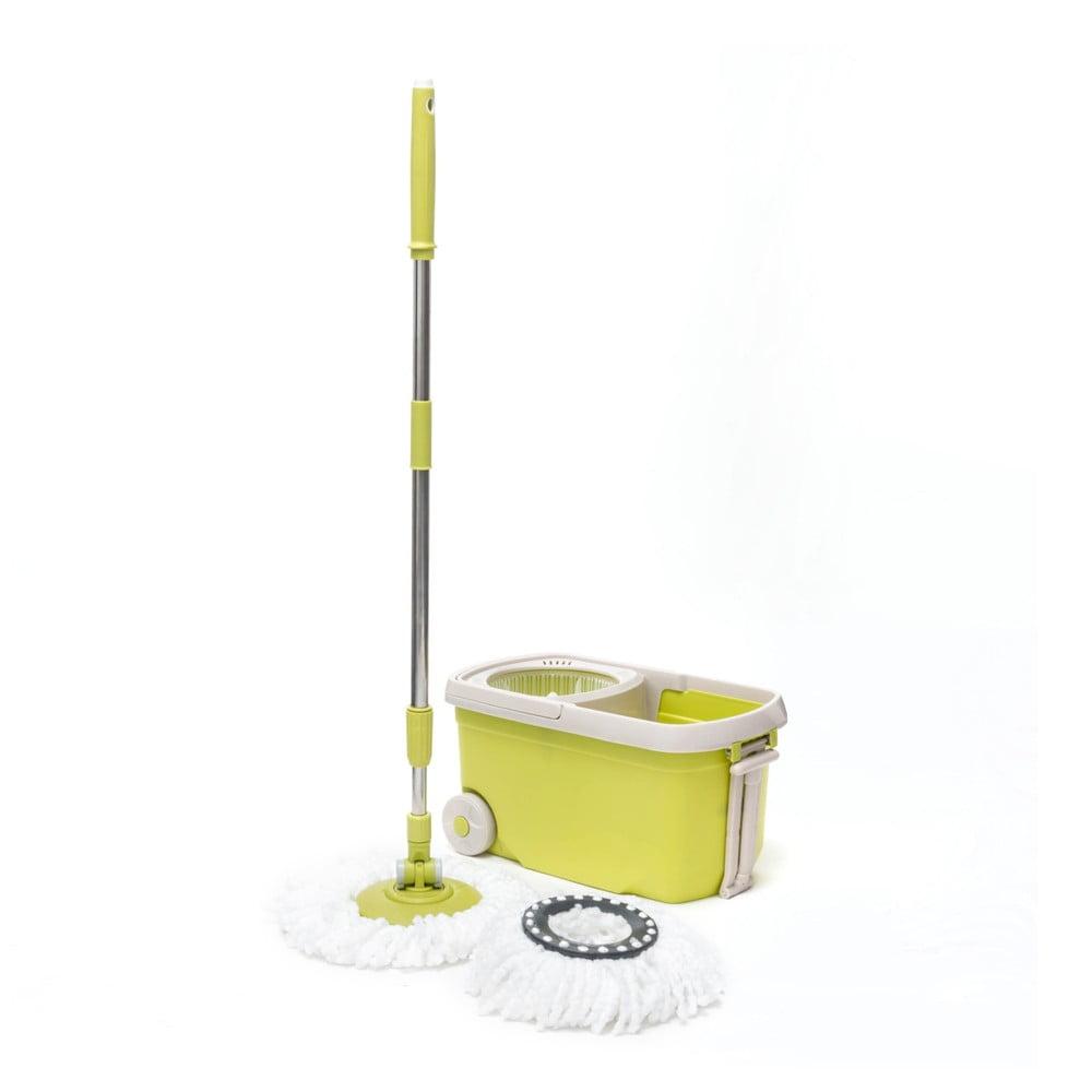 Žlutý set rotačního mopu a kyblíku InnovaGoods
