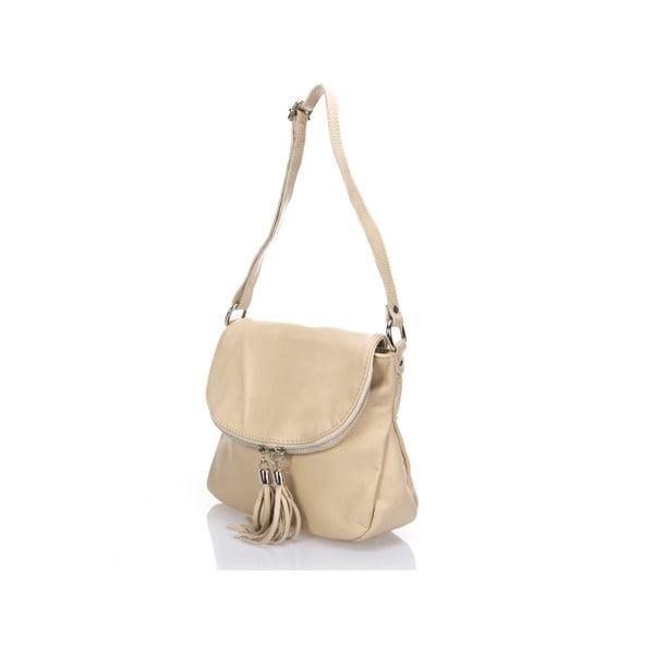 Béžová kožená kabelka Giulia Massari Lucies