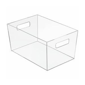Úložný průhledný box iDesign Clarity, 30,6 x 20,7 cm