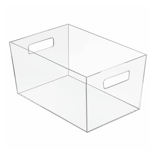 Úložný priehľadný box iDesign Clarity, 30,6 × 20,7 cm