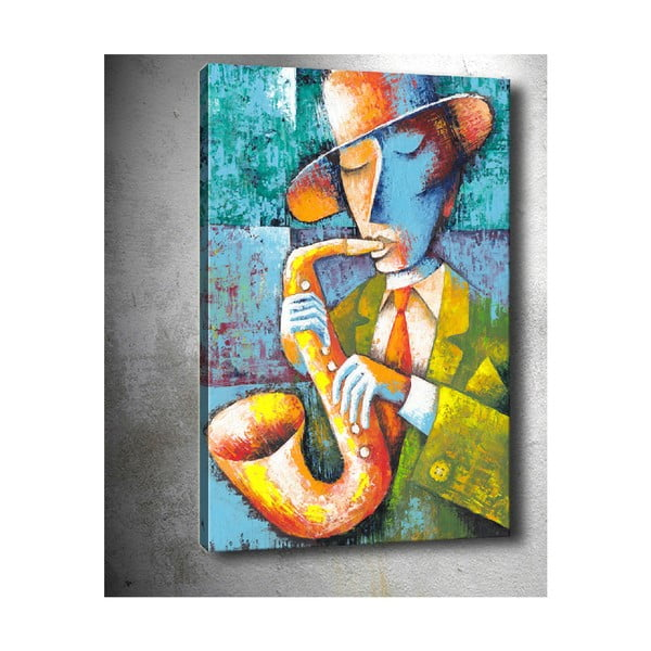 Saxophone kép, 50 x 70 cm - Tablo Center