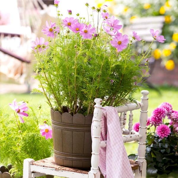 Vysoce odolný květináč Country 30 cm, hnědý