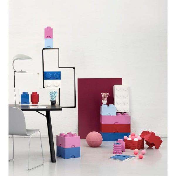 Růžový úložný box LEGO®