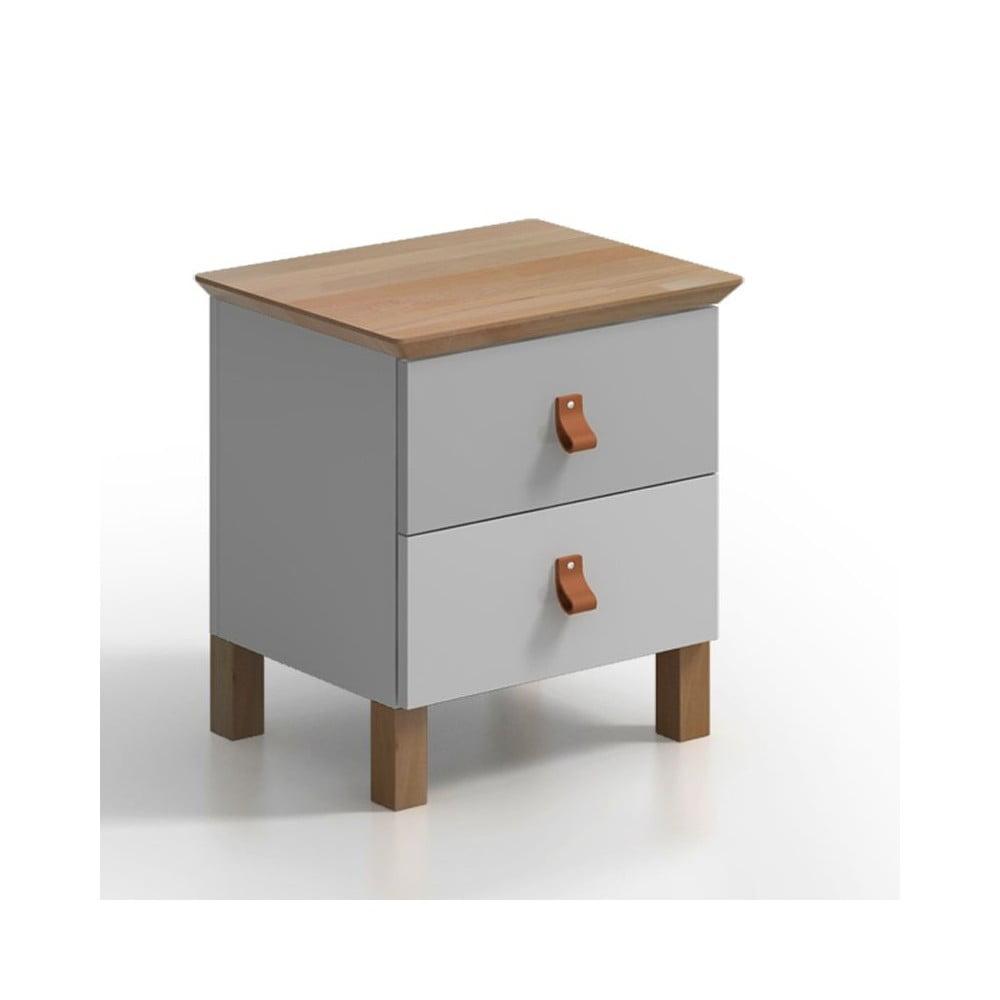 Noční stolek se 2 zásuvkami SKANDICA Vaxholm