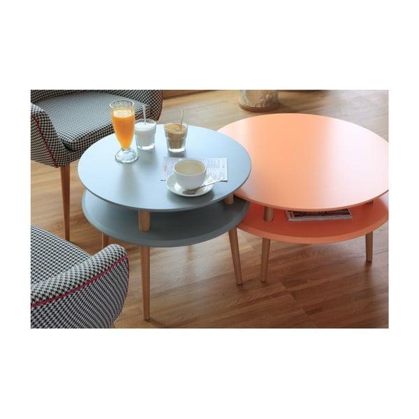 Tmavě šedý konferenční stolek Ragaba UFO,⌀57cm