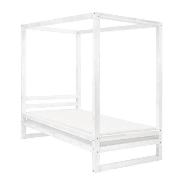 Bílá dřevěná jednolůžková postel Benlemi Baldee, 190x120cm