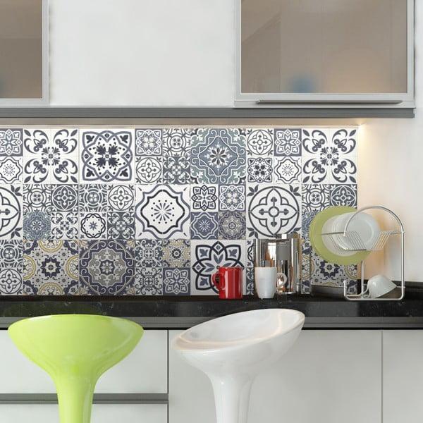 Set 60 autocolante de perete Ambiance Cement Tiles Milonga, 15 x 15 cm