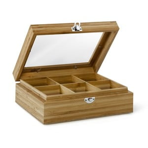 Bambusová krabička na čaj se 6 přihrádkami Bredemeijer