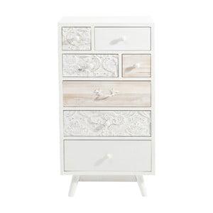 Bílá komoda se 7 zásuvkami Kare Design Sweet Home