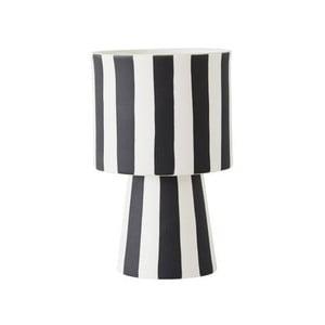 Černo-bílá keramická váza OYOY Toppu, ⌀ 10 cm