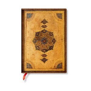 Nelinkovaný zápisník s měkkou vazbou Paperblanks Safavid, 13x18cm