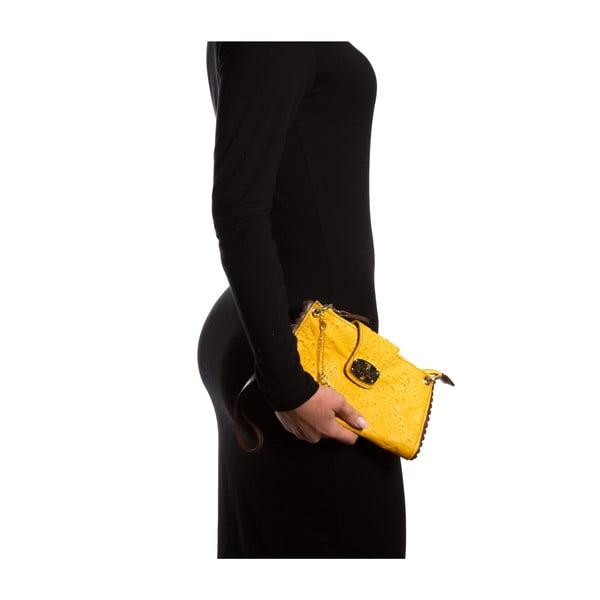 Kožená kabelka Isabella Rhea 2024, žlutá