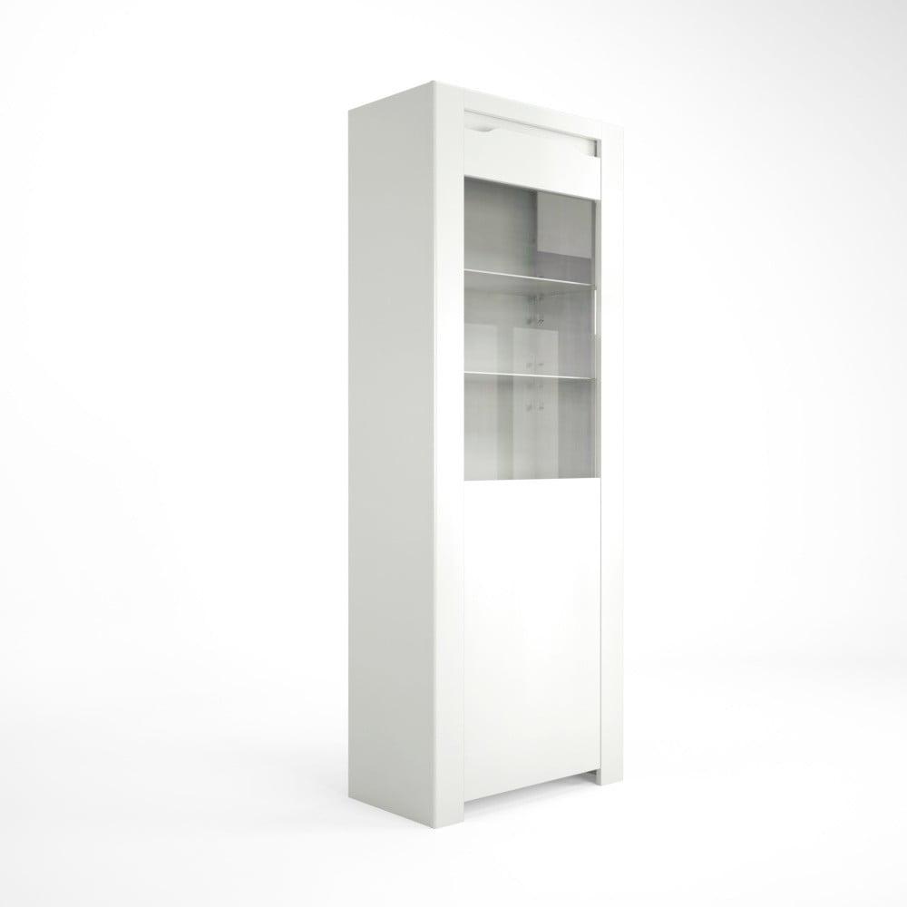 Bílá vitrína Artemob Orlando, 68 x 180 cm