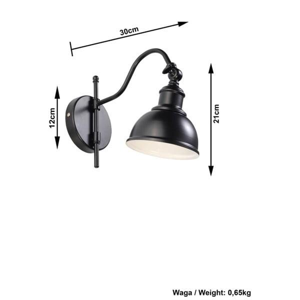 Černé nástěnné svítidlo Nice Lamps Isola Una