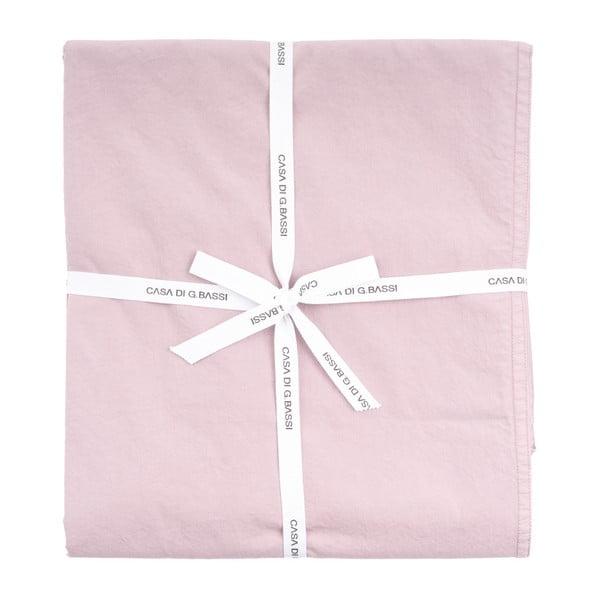 Světle růžový bavlněný povlak na polštář Casa Di Bassi Softtouch, 80x80cm