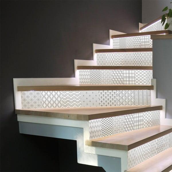 Set 2 autocolante pentru scări Ambiance Thorvald, 15 x 105 cm