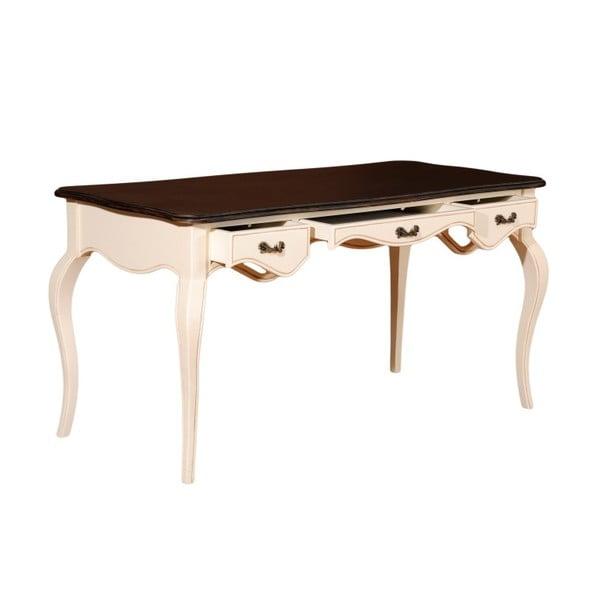 Odkládací konzolový stolek se 3 zásuvkami Cream Black